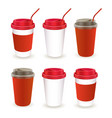 paper cup 07 vector image vector image