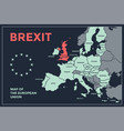 poster map european union with country vector image vector image