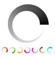 preloader buffer shape or progress indicator eps10 vector image vector image