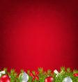 Red Xmas Card vector image