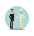 restaurant team cartoon character chef and vector image