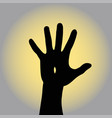 resurrected jesus raises his hand to the sky vector image vector image