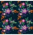 Retro romantic floral background with flowers vector image vector image