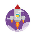 rocket ship launched to the space vector image vector image