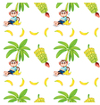 Seamless design with monkeys and bananas vector image vector image