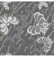 Seamless grunge flower texture 524 vector image vector image