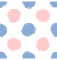 Seamless pattern polka dots in color 2016 rose vector image vector image