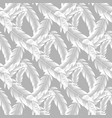 seamless pattern white feathers on gray vector image vector image