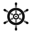 ship steering wheel icon simple style vector image vector image