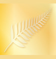 silver fern of new zealand background vector image vector image
