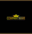 simple golden business logo vector image vector image
