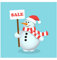 snowman advertises sale calls to shop vector image vector image