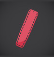 spinal board flat icon vector image vector image