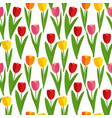 spring tulip flowers seamless pattern background vector image vector image
