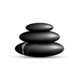 Stack of spa stones isolated on white vector image vector image