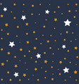 stars in night sky background vector image