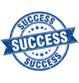 success round grunge ribbon stamp vector image vector image