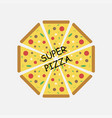 super pizza logotype vector image