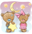 Teddy Bear Girl and Boy with a star vector image vector image