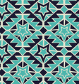 Tribal turquoise and navy geometric tribal vector image