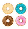 watercolor donuts set vector image vector image