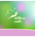 wellness center logo vector image vector image