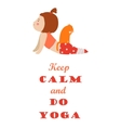 isolated a girl practising yoga vector image