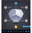 abstract geometric 3d shape infographics vector image vector image