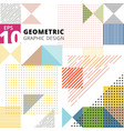 abstract multicolor geometric pattern trendy vector image vector image