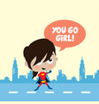 adorable and amazing cartoon superhero in classic vector image vector image