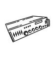 amplifier icon doodle hand drawn or outline icon vector image