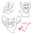 Amusing ghosts vector image vector image