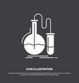 analysis chemistry flask research test icon glyph vector image vector image