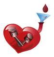 Appeal to donate blood Art poster vector image vector image