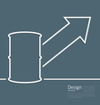 arrow indicating trend grow cost oil barrel roll vector image