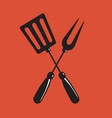barbecue spatula and fork sign vector image