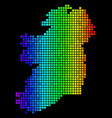 bright abstract ireland map vector image vector image
