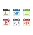calendar icons set for holidays vector image vector image
