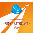 card day flight attendant vector image