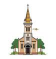 catholic church vector image vector image