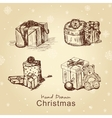 christmas gifts set vector image vector image