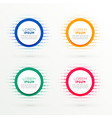 circular banners set in halftone style vector image vector image