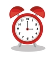 Classic clock with alarm vector image
