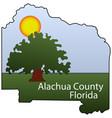 coat arms alachua county in florida usa vector image vector image