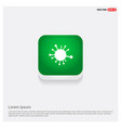 connection of cells molecule icon green web button vector image