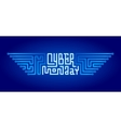Cyber Monday Lettering with Circuit Board vector image vector image