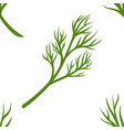 dill branch seamless pattern greenery and organic vector image