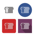 dotted icon bread brick in four variants vector image