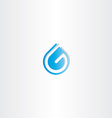 drop water letter g logo vector image