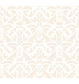Elaborate white vintage seamless pattern on beige vector image